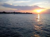 večerní pohled z kempu Jadranka