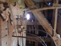 Dřevěný větrný mlýn Partutovice