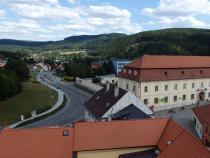 Boskovice, radniční věž - pohled z věže
