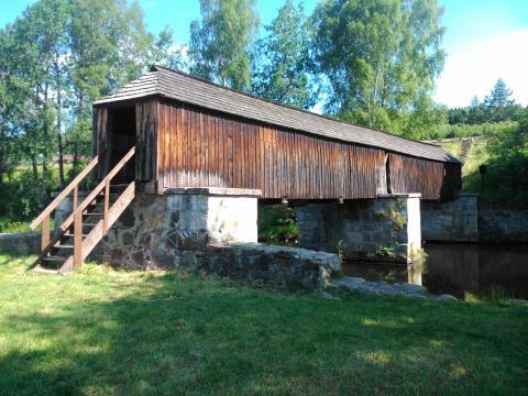 Dřevěný most v Lenoře